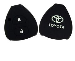 Mand High-Quality Shell Silicone Car Key Cover Compatible For Toyota/Innova/Fortuner/Corolla (Black) (Pack of 2)