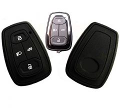 Mand High-Quality Silicone Car Key Cover Compatible With Tata Nexon, Tata Harrier, Altroz (Black) (Pack of 2)