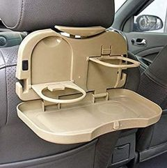 Cyalerva Multi-Function Folding Car Back Seat Tray Holder For Food & Cup Holding