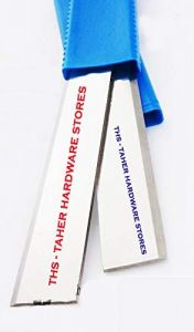Ths Taher Hardware Premium Quality Carbon Steel Planer Machine Blade 15 (Pack of 2)