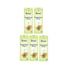 Zindagi Cardamom Liquid Extract - Pure Cardamom Drops for Cooking & Baking,(10 ml * 5) (Pack of 5)