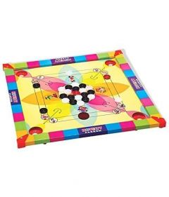 Carrom Board 2 In 1 Game, With Big Size Ludo For Kids Random Design Will Ship (Pack Of 1)