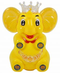 Cartoon Elephant With Music, Lights And Universal Rotation Function For Kids (Pack Of 1)