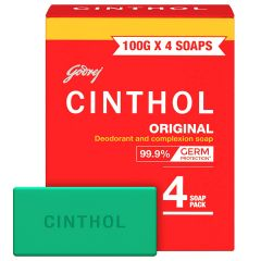 Cinthol Original Bath Soap Protect form Dust & Pollution, 99.9% Germ Protection (100g) | (Pack of 4)