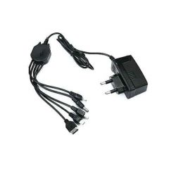 Mand 5 in 1 Multi Pin Mobile Charger for All Android and keypad Phones (Black)