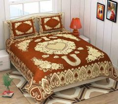 Fabric Empire Bedsheet and 2 Cushion Cover of King Size in Chenille (Pack of 3)