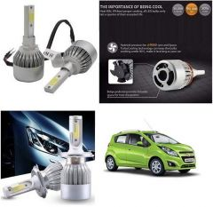 After Cars Chevrolet Beat C6 LED HID Light 72w Car Headlight Conversion Kit 8k (White)