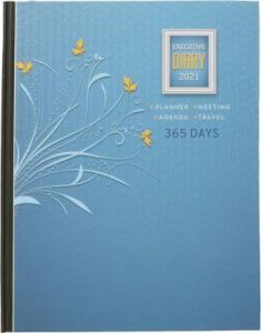 Toss 2021 A5 & 330 Pages Ruled Diary (Blue) (Pack of 4)