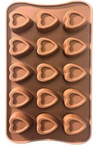 Heart Designs Chocolate Moulds innocuous, non-radiate, non-toxic and environment friendly (Pack of 2)