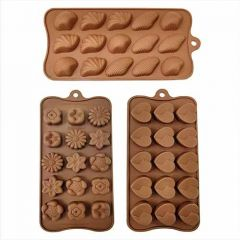 Designs Chocolate Moulds innocuous, non-radiate, non-toxic and environment friendly (Pack of 3)