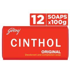 Cinthol Original Bath Soap Protect form Dust & Pollution (100gm) | (Pack of 12)