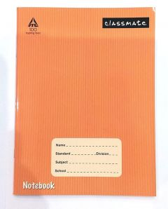 Classmate Note Book Soft Cover Four line - Interleaf (Left Side Page Blank- Right Side Page Four Lines with Gap) Size: 24x18cm 120 Pages (Pack of 6) by fine Creations