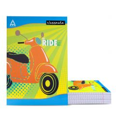 Classmate Long Notebook - Hard Cover, 236 Pages, 297x210mm, Single Line (Pack of 6)