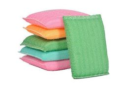 Multi Color Foam Pad Sponge Scourer Kitchen Scrubber for Dishes, Utensils, Tiles Cleaning 14mm (Pack of 12)