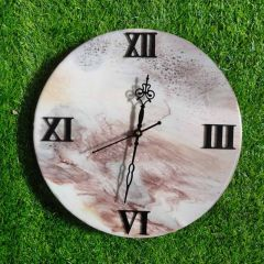 Wall Decore Round Clock With Multi-Color And Unique Designs (AD-02) (Pack of 1)