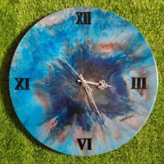 Wall Decore Round Clock With Multi-Color And Unique Designs (AD-01) (Pack of 1)