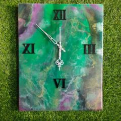 Wall Decore Round Square Clock With Multi-Color And Unique Designs (AD-03) (Pack of 1)