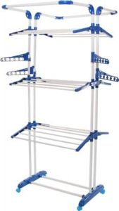 PALOMINO High-Quality Steel King Jumbo Clothes Drying Stand With Breaking Wheel (3 Poll)