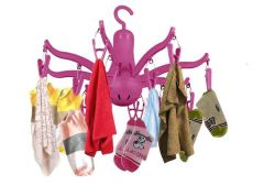 8-Claw Octopus Hanging Dryer Clothes pegs, fold up and Put Away