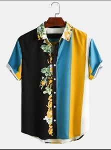 Men's Polycotton Short Sleeves Regular Fit Casual Shirt (Multi-Color) (Pack of 1)