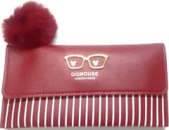 Fashionable  and cute pom pom design Clutch Bag For Womens (Red) (Pack of 1)