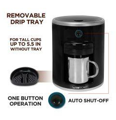 Orbit Best Quality Personal Coffee Maker (Black)- KAP 3424