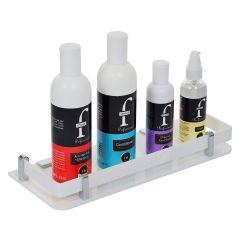 LWVAX Stylish Acrylic Wall Mount Bathroom Shelf Toiletry and Bath Organizer (White)
