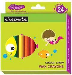 Classmate Wax Crayons - Jumbo (24 Shades)