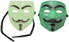 PTCMART V For Vendetta Comic Face Mask For Party Party Mask(Pack of 2)