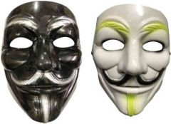 PTCMART V For Vendetta Comic Face Cover Mask For Party And Play Role Party Mask(Pack of 2)