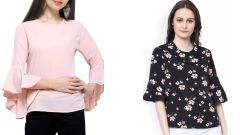Bell Sleeves And Floral Printed Tops Combo