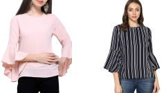 Stripped Bell Sleeve Top Combos