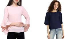 Bell And Half Sleeve Loose Tops Combo