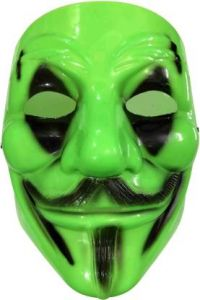 PTCMART Comic Face Mask Anonymous V for Vendetta Guy Fawkes(Multicolor, Pack of 1)