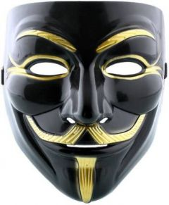 PTCMART Comic Black mask for Party, occasion, function, disco, club and dance Party Mask (Multicolor, Pack of 1)