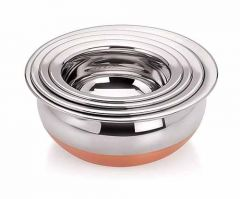 Copper handis for everyday use Aesthetic design with mirror polish steel finishing (Pack of 4)