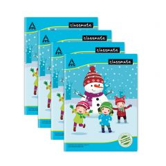 Classmate 3 in 1 Notebook - Soft Cover, 180 Pages, 240x180mm, Ruled/Four Lines with Gap/Square 1cm (Pack of 4)