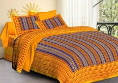 Fabric Empire Cotton Bedsheet and 2 Cushion Cover of King Size (Pack of 3)