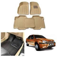 After Cars Cream Carpet Floor/Foot 4D, Mats for Ikon