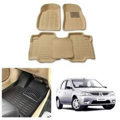 After Cars Cream Carpet Floor/Foot 4D Mats,for Mahindra Logan