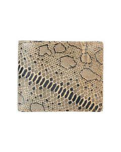 ASPENLEATHER Genuine Leather Bi-Fold Wallet For Men (Golden Black)