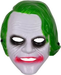 PTCMART Dark Knight Joker mask for Adults /Super Hero Batman Camouflage Face Mask Cosplay for Party/Halloween Theme Party Party Mask  (White, Pack of 1)