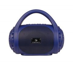 Zebronics Zeb-County Portable Bluetooth Speaker, High Bass & Clear Sound With Built-in FM Radio, Aux Input & Call Function (Blue)