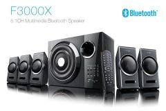 F&D 5.1 Bluetooth Speakers 15 Meter Bluetooth Operation Range, Full Clear Sound With Powerful Bass (F3000X)
