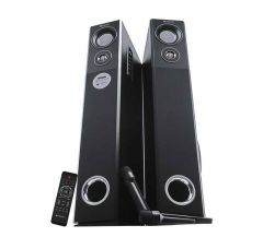 Zebronics ZEB-BT9500RUCF Tower Speaker, High Bass & Clear Sound, Fully Remote Control Support With SD & MMC Cards
