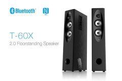 F&D T-60X 2.0 Tower Speaker Powerful Sound & High Bass, Bright LED Display (Black)
