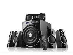 F&D 5.1 Bluetooth Speakers 15 Meter Bluetooth Range, Full Clear Sound & Powerful Bass & LED Display (F6000X)