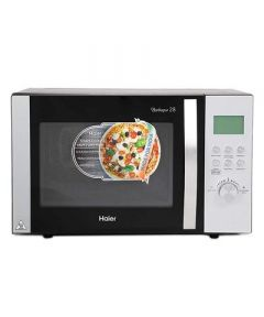 Haier 28 L Convection Microwave Oven   1400 Watts, Suitable For Small Family (HIL2801RBSJ) (Black)