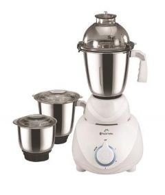 Russell Hobbs RMG550 Mixer Grinder, 3 Stainless Steel Jar, 3 Speed & Overload Protection (White)