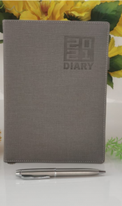 High-Quality Paper Stylish 2021 Year Diary Record Your Travel & Note (Grey) (Pack of 1)